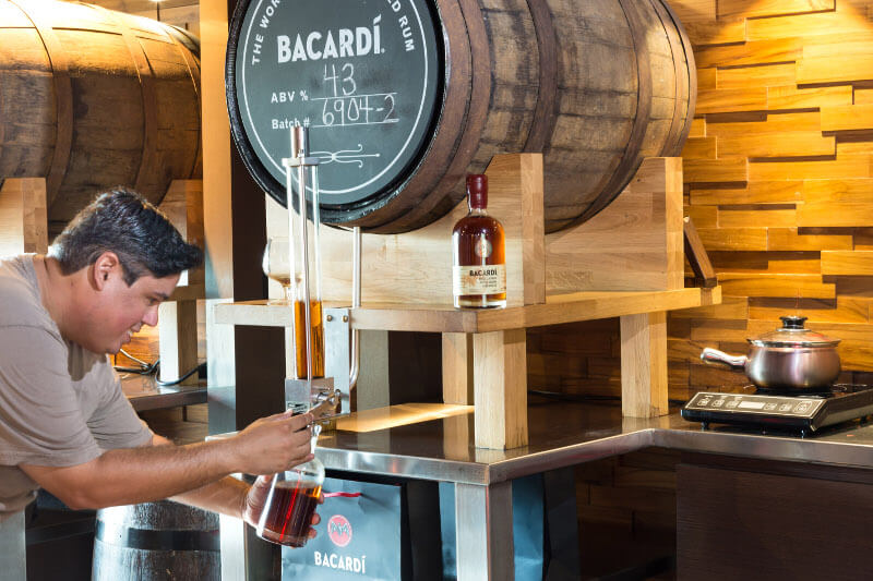 self fill bacardi cask