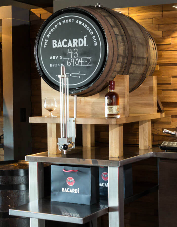 bacardi self fill cask